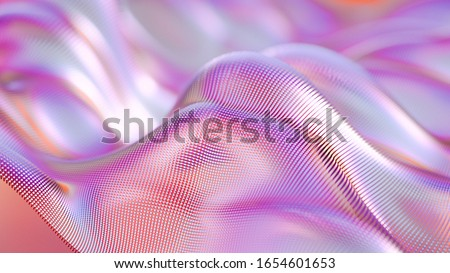 Beautiful abstract luxury background with drapery fabric. 3d illustration, 3d rendering.
