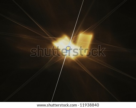 Beautiful abstract microchip and gold metal background