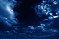 beautiful abstract nightly clouds landscape