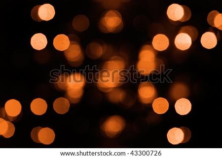 Beautiful abstract spot light decoration in orange.