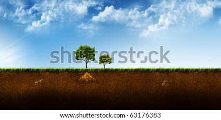 Beautiful abstract tree illustration background