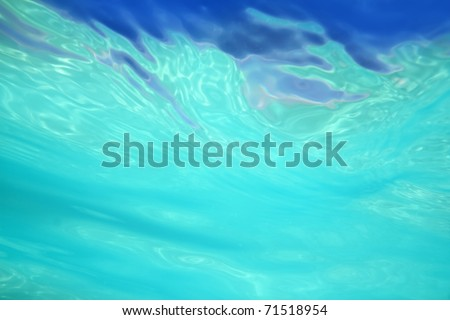 beautiful abstract water shapes from sea underwater