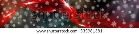 Beautiful abstract wave. New Year festive background. 3d rendering. #535981381