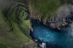 Beautiful aerial landscape in Iceland