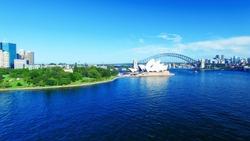 Beautiful aerial view of Sydney skyline.