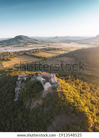 Beautiful aerial view of Szigliget Stock photo ©