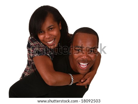 White American Couple African American Couple on