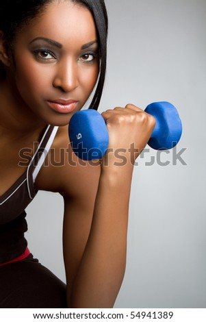 Beautiful african american fitness woman