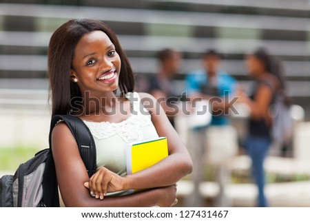 beautiful african college student
