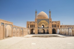Beautiful Agha Bozog mosque in town of Kashan, Iran