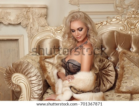 beautiful alluring blond woman...