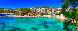 Beautiful Alonissos island - picturesque fishing village Votsi. Sporades, Greece