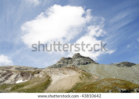 Beautiful Alpine landscape of Hohe Tauern National Park in Austria