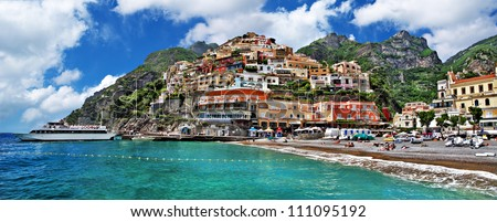 beautiful Amalfi coast - Positano town