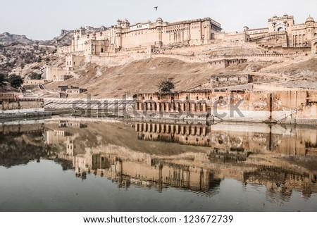 Beautiful Amber Fort Near Jaipur City In India Rajasthan Stock Photo 123672739 Shutterstock