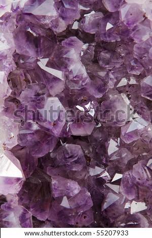 Beautiful amethyst crystal background