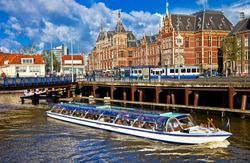 beautiful Amsterdam - canals in downtown