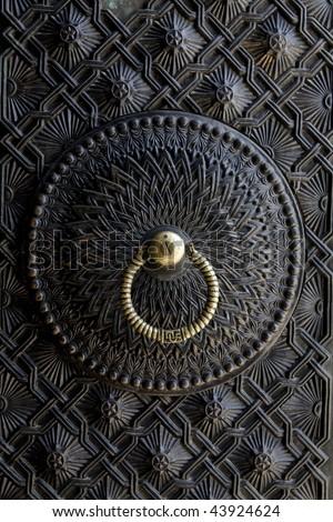 beautiful ancient door lock