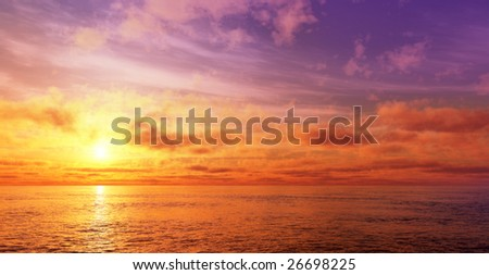 Beautiful and colorful sunset sky