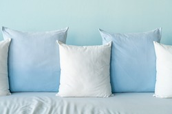 beautiful and comfortable pillows decoration on sofa