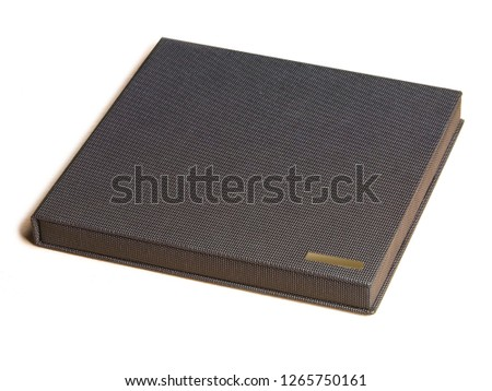 Beautiful and diverse subject. Beautiful and expensive stylish books and albums, photo albums for memory and saving photos on a white and light background.