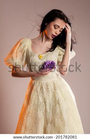 beautiful and elegant model in dress  #201782081