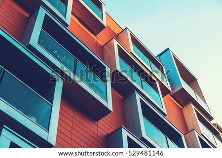beautiful and high contrasted architecture #529481146