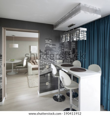 ShutterStock beautiful and model interior of bright kitchen 190411952