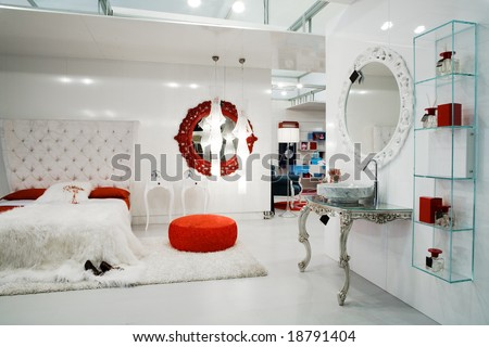 Beautiful And Modern Furniture In Furniture Store Stock Photo 18791404