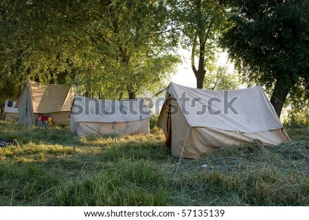 Beautiful and natural camping site on a bright summer day #57135139
