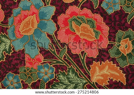Beautiful and original creative batik design from south east asian countries / Batik background / Common attire for asian, worn on public functions and ceremonies