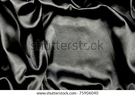 Beautiful and smooth black satin background