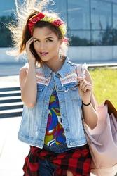 Beautiful and stylish girl on the street