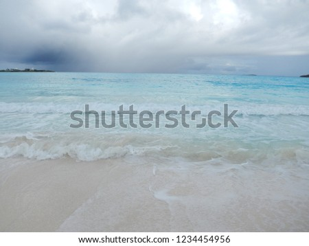 Beautiful and tranquil Bahamian beach #1234454956