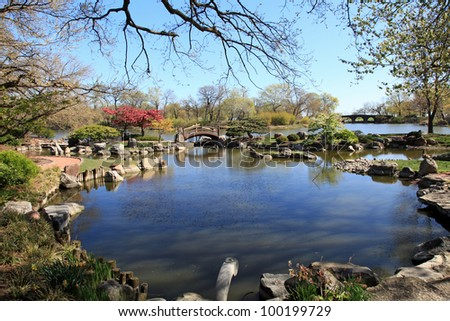 Beautiful and tranquil Osaka Japanese Garden in Chicago