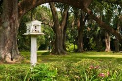 Beautiful and Unique Greek Revival Bird House at Houmas Plantation in Louisiana