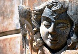 Beautiful angel child funerary statue from Avola, Sicily.