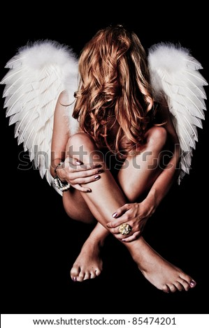 Beautiful Angel with Red Hair