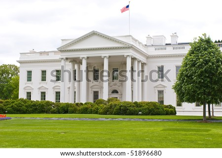 Beautiful angle view of the White House in USA capital Washington, DC