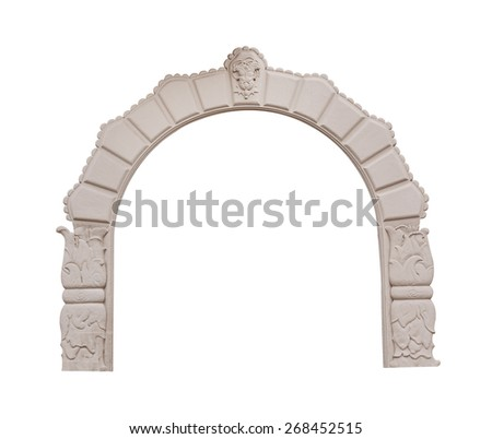 beautiful antique arch isolated ...