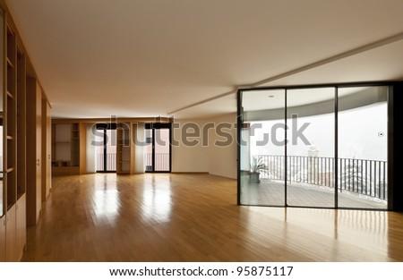 Beautiful Apartment Interior Empty Room With Windows Stock Photo 95875117 Shutterstock