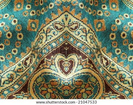 Beautiful, arab, arabic, arabian, arabesque fabric background. For paisley, oriental, geometric, carpet, baroque, indian, iranian, persian abstract design. More of this motif and textiles in my port.