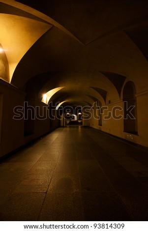 beautiful arch in night light