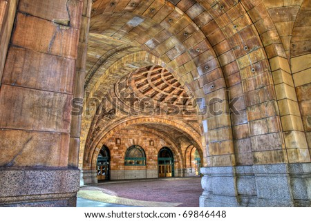 Beautiful arches of Penn Station in Pittsburgh, Pennsylvania