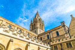 Beautiful Architecture Christ Church Cathedral in Oxford, United Kingdom.