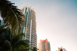 Beautiful architecture in Miami, amazing buildings in a tropical place