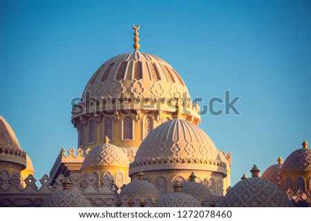 Beautiful architecture of Mosque in Hurghada, Egypt #1272078460