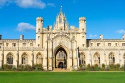Beautiful Architecture St. John's College in Cambridge, United Kingdom