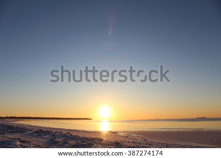 Beautiful Arctic sunset.