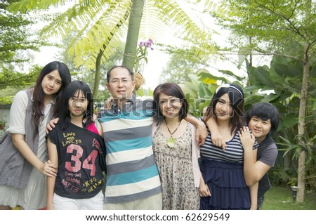 Beautiful asian family